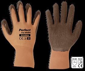 Перчатки защитные PERFECT GRIP BROWN латекс, размер 8, RWPGBR8