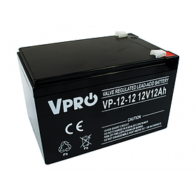 Аккумулятор Volt Polska VPRO 12 Ah 12V AGM VRLA черный (6AKUAGM012)