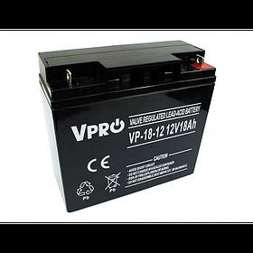 Аккумулятор Volt Polska VPRO 18 Ah 12V AGM VRLA черный (6AKUAGM018)