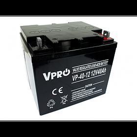 Аккумулятор Volt Polska VPRO 40 Ah 12V AGM VRLA черный (6AKUAGM040)