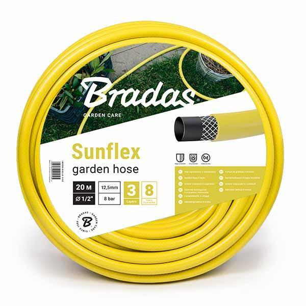 Шланг для полива SUNFLEX BRADAS желтый 5/8     (бухта 30м.), цена за бухту