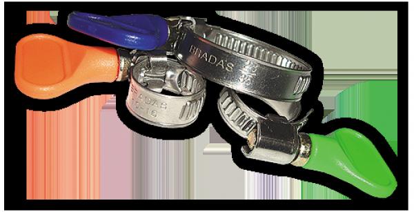 Хомут червячный нержавеющий с бабочкой, d 12x20 Арт.BSGRIP 12-20/9 уп.100