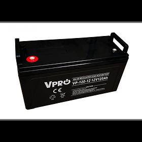 Аккумулятор Volt Polska VPRO 120 Ah 12V AGM VRLA черный (6AKUAGM120)