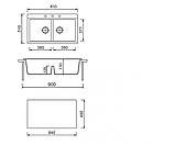 Гранитная кухонная мойка Adamant SIMILAR, фото 5