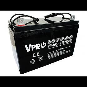 Аккумулятор Volt Polska VPRO 100 Ah 12V AGM VRLA черный (6AKUAGM90)