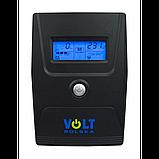 Источник бесперебойного питания Volt Polska Micro UPS 800 черный, фото 2