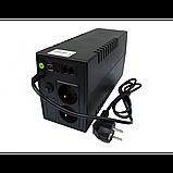 Источник бесперебойного питания Volt Polska Micro UPS 800 черный, фото 4