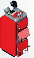 Котел твердотопливный DEFRO BN PLUS (с автоматикой) 29 кВт. красно-серый