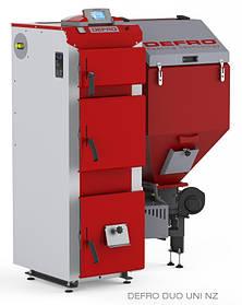 Котел твердотопливный DEFRO DUO UNI 15 кВт. красно-серый