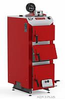 Котел твердотопливный DEFRO KDR PLUS 3 (с автоматикой) 50 кВт. красно-серый