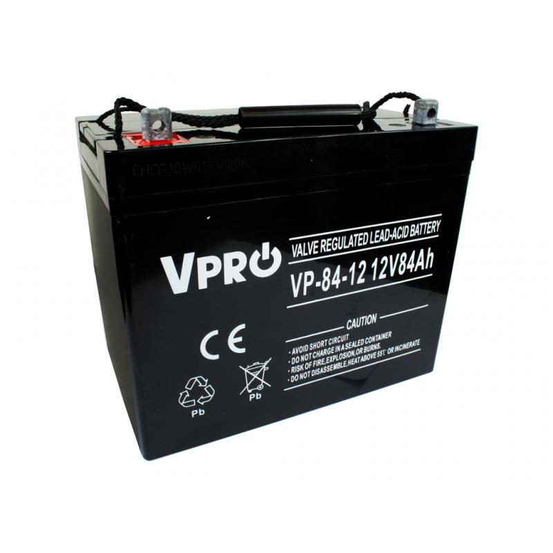Акумулятор Volt Polska VPRO 84 Ah 12V AGM VRLA чорний (6AKUAGM084)