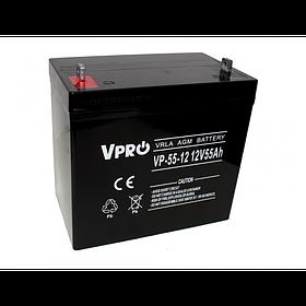 Аккумулятор Volt Polska VPRO 55 Ah 12V AGM VRLA черный (6AKUAGM055)