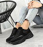 Женские черные кроссовки из натуральной кожи и замши, фото 5
