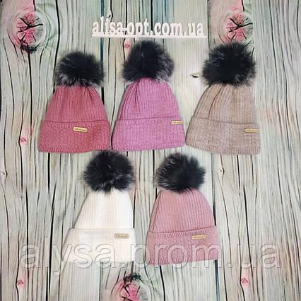Детская шапка Д-028 акрил, подкладка флис