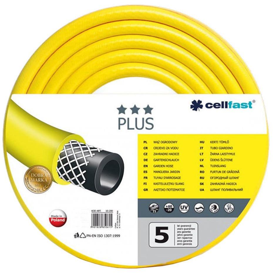 Шланг для полива Cellfast PLUS жолтый  3/4     (бухта 25м.), цена за бухту