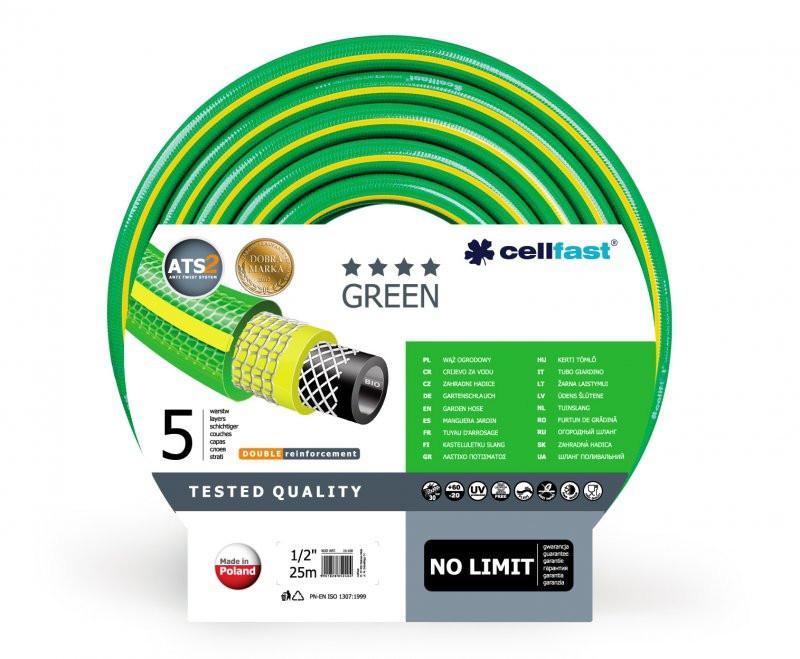 Шланг поливочный CELLFAST Green пятислойный 3/4      (бухта 50м.), цена за бухту