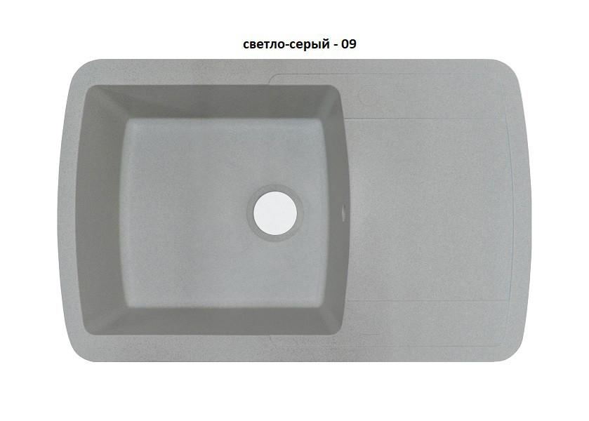 Гранитная кухонная мойка Adamant OPTIMAX  СВЕТЛО СЕРЫЙ-09
