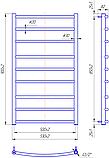 Полотенцесушитель Классик 900x530/500, фото 3