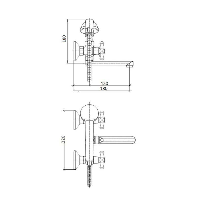 Смеситель для ванны Touch-Z Smes 146