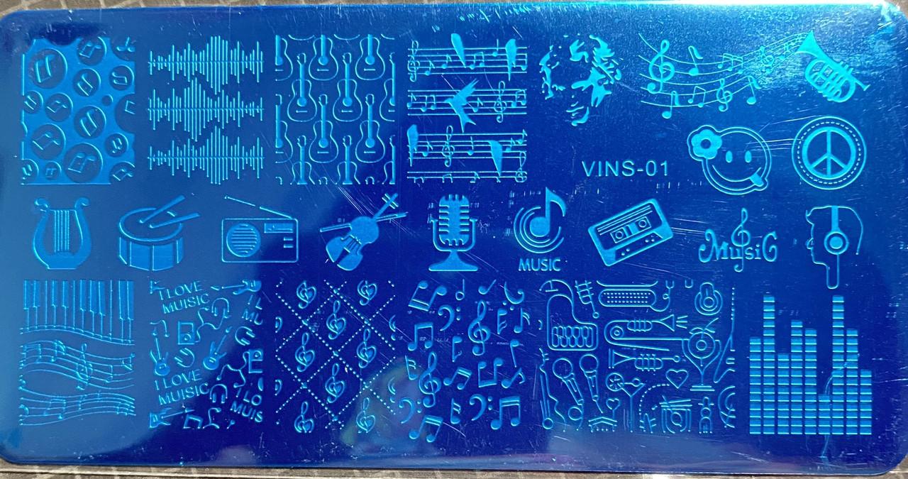 Пластина для стемпинга VINS-01