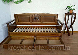 """Дитячий диван - ліжко з ящиками з масиву дерева """"Орфей Преміум"""" від виробника, фото 2"""