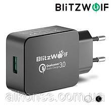 Зарядное устройство BlitzWolf® BW-S5 18W (24W Max) Power3S QC3.0 - 3.6-6.5V ~ 3A 6.5-9V ~ 2A 9-12V ~ 1.5A