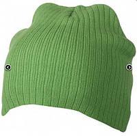Классическая шапочка ребристая вязка 7923-3