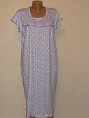 Сорочка женская с оборкой короткий рукав хб