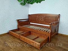 """Детский диван - кровать с ящиками из массива дерева """"Орфей Премиум"""" от производителя, фото 2"""