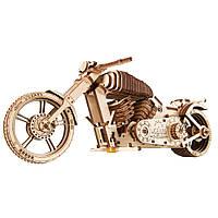 """Механический 3D пазл """"Байк VM-02"""", 190 элементов UGEARS (4820184120822), фото 1"""