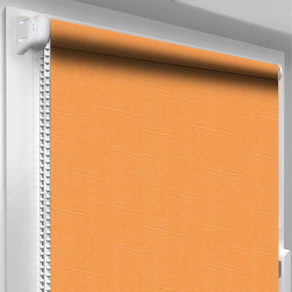 Рулонная штора DecoSharm Лён 852 Оранжевый