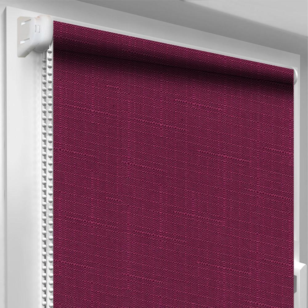 Рулонная штора DecoSharm Лён 7446 Фиолетовая