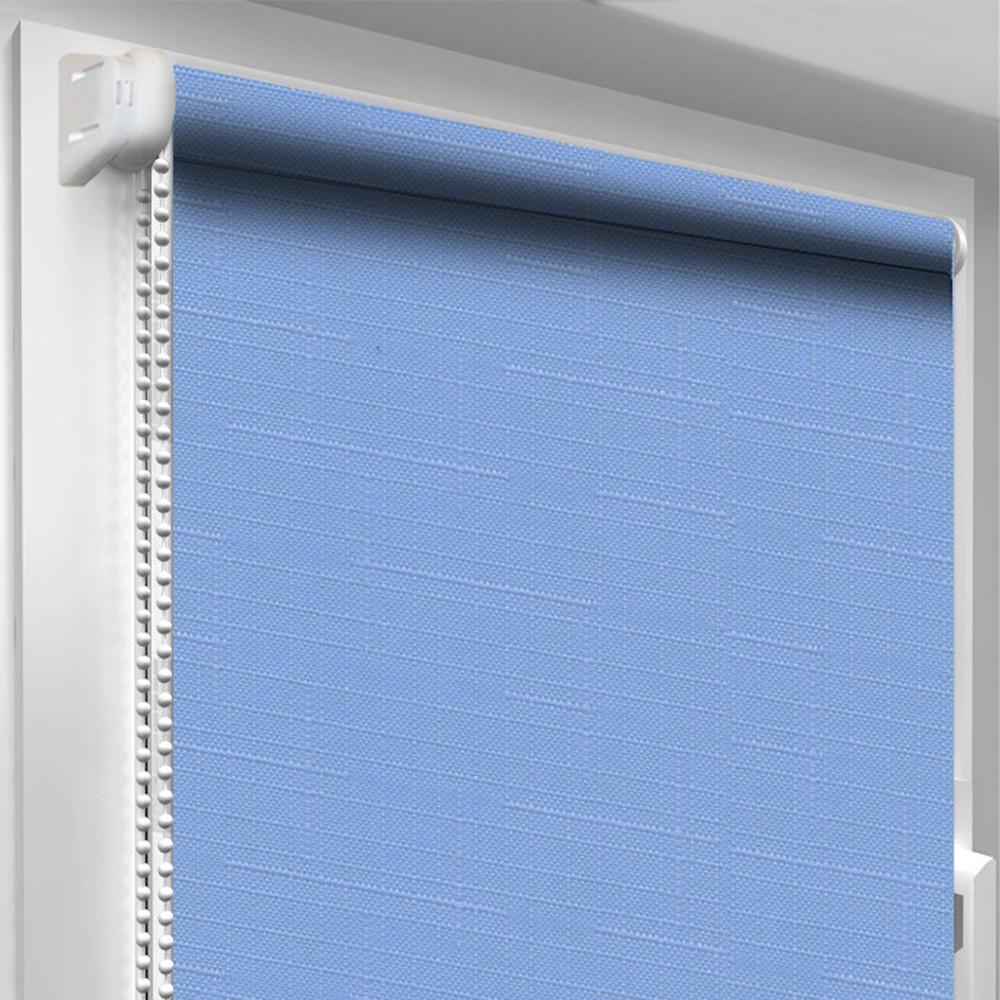 Рулонная штора DecoSharm Лён 2074 Голубая