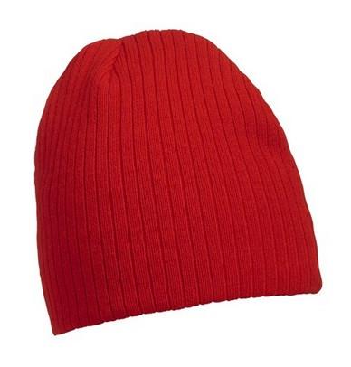 Классическая шапочка ребристая вязка 7923-7