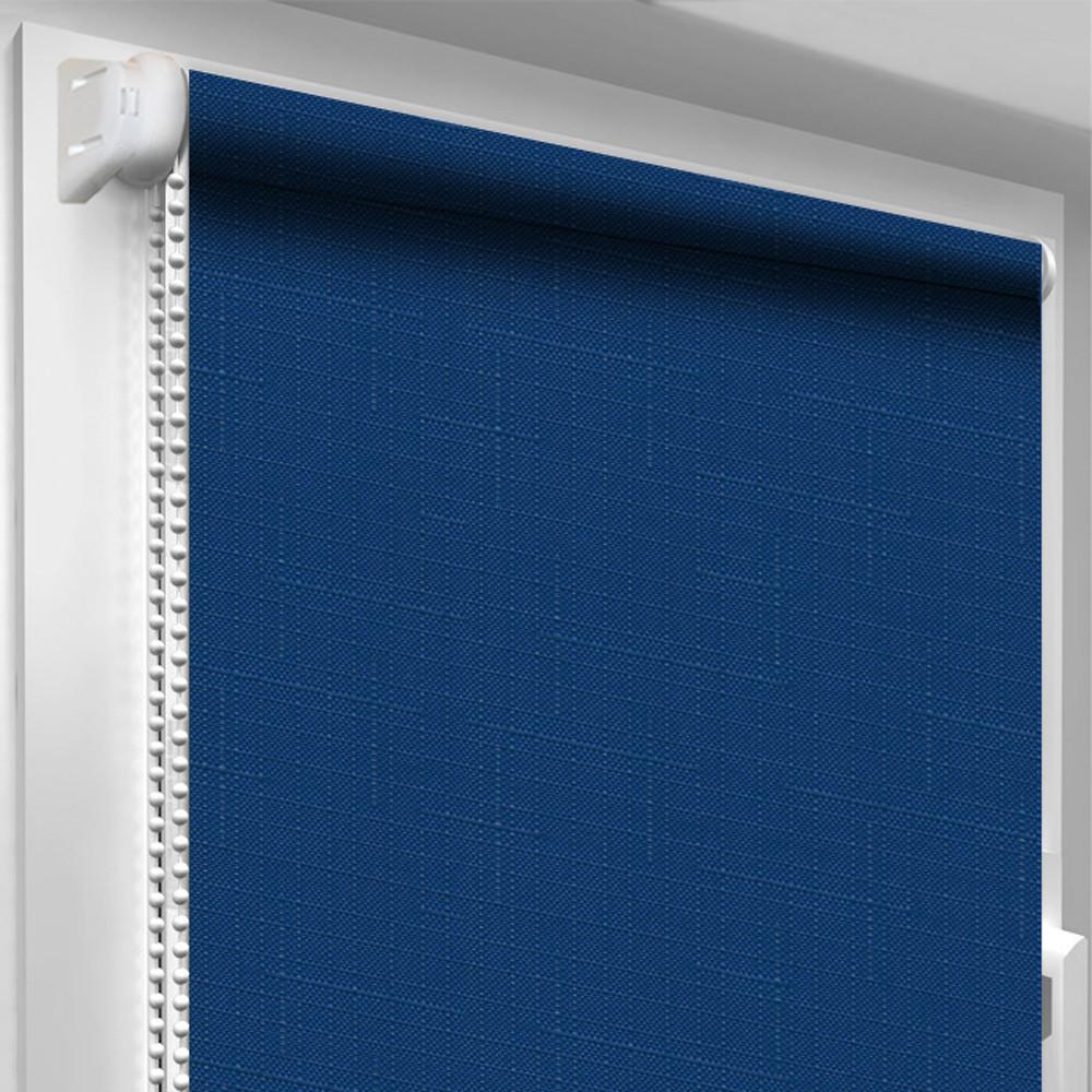 Рулонная штора DecoSharm Лён 2075 Синяя