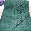Махровое полотенце в сауну  Зеленый цвет, фото 2
