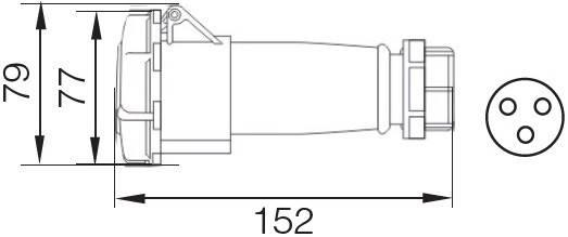 Розетка 2132 переносна 2Р+РЕ 16А 220В IP67 TechnoSystems TNSy5502052, фото 2