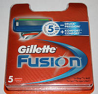 Gillette fusion (джиллет фьюжн) 5 штук в упаковке оригинал, фото 1