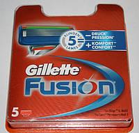 Gillette fusion (джиллет фьюжн) 5 штук в упаковке оригинал