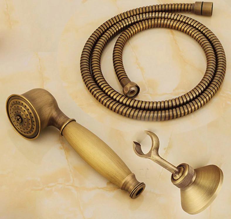 Душевой гарнитур STURM Classica: лейка, металлический шланг 150 см и держатель (античная латунь)