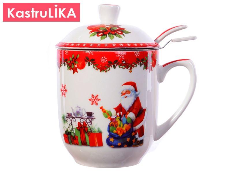 Новогодняя посуда Lefard Новогодняя заварочная чашка 300мл