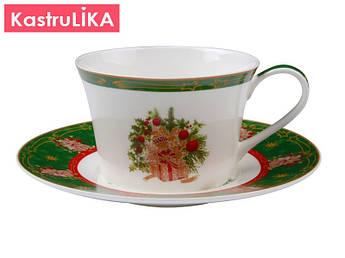 Чашка новогодняя Lefard с блюдцем 180мл