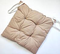 Бежевая подушка для стула 38*35 Sermat Турция