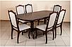 Кухонный комплект -Вавилон. Стол раздвижной и 4 стула. Цвет - т.орех, фото 4