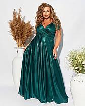Шикарное  вечернее молодёжное платье в пол на запах  с 50 по 54 размер, фото 3