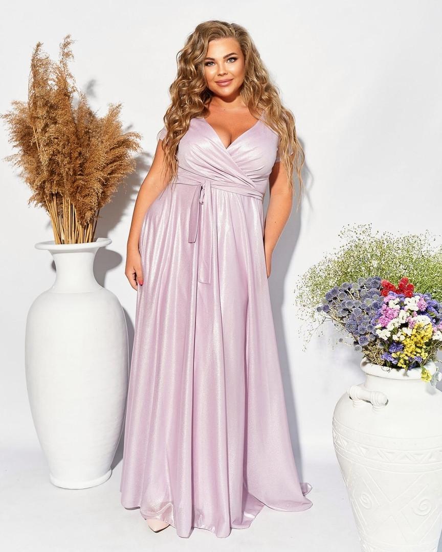 Шикарное  вечернее молодёжное платье в пол на запах  с 50 по 54 размер