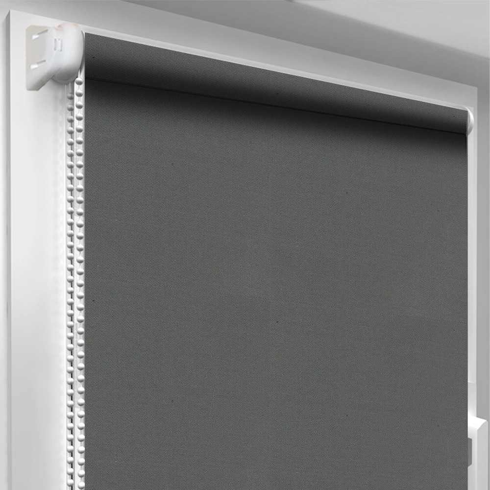 Рулонная штора DecoSharm Блекаут ВО 061 АКРИЛ Тёмно-серая