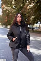 Женская куртка теплая черная 52-54 р.