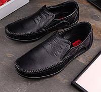 LEVI'S STREET черные фирменные мужские кожаные мокасины