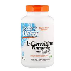 Doctor's s Best, L-карнітин фумарат з карнитинами Biosint, 855 мг, 180 рослинних капсул